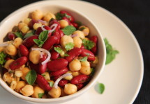 Chimichurri Salad with Beans and Corn recipe | BaconFatte.com
