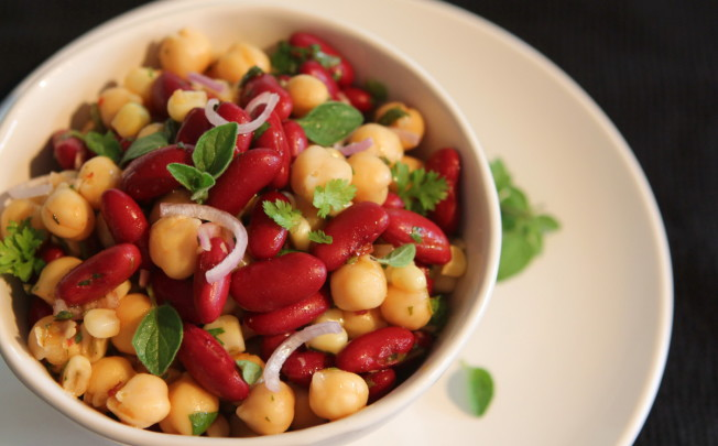 Chimichurri Salad with Beans and Corn