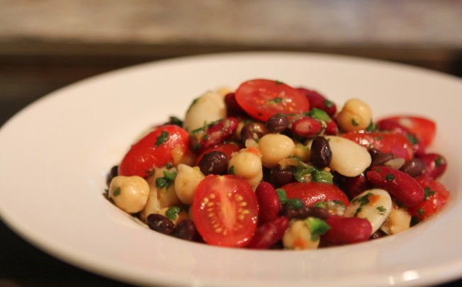 Chimichurri Salad with Beans and Tomatoes