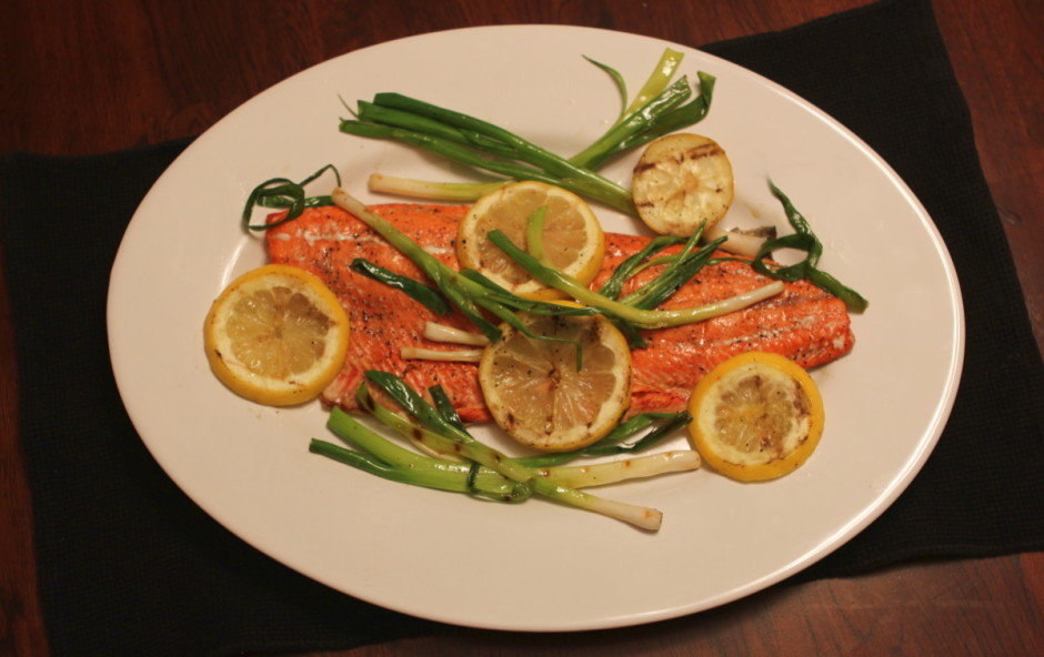 Salmon with Lemon and Scallions | BaconFatte.com