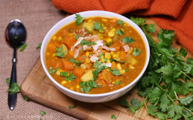 Sweet Potato, Apple and Corn Coconut-Curry Chowder