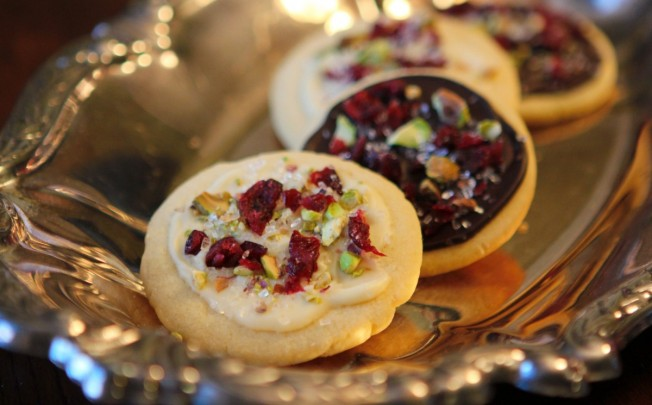 Jeweled Chocolate-Topped Shortbread Cookies