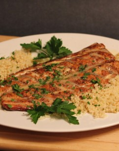Grilled Mahi Mahi with Lemon-Vermouth Butter Sauce