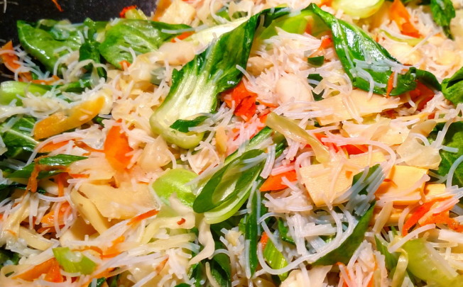 Asian Rice Noodle and Vegetable Stir Fry