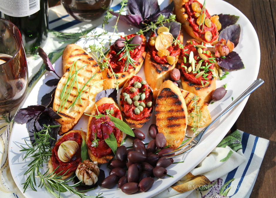 Grilled Summer Toasts