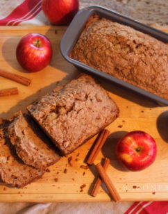 Delicious Double Apple Streusel Bread