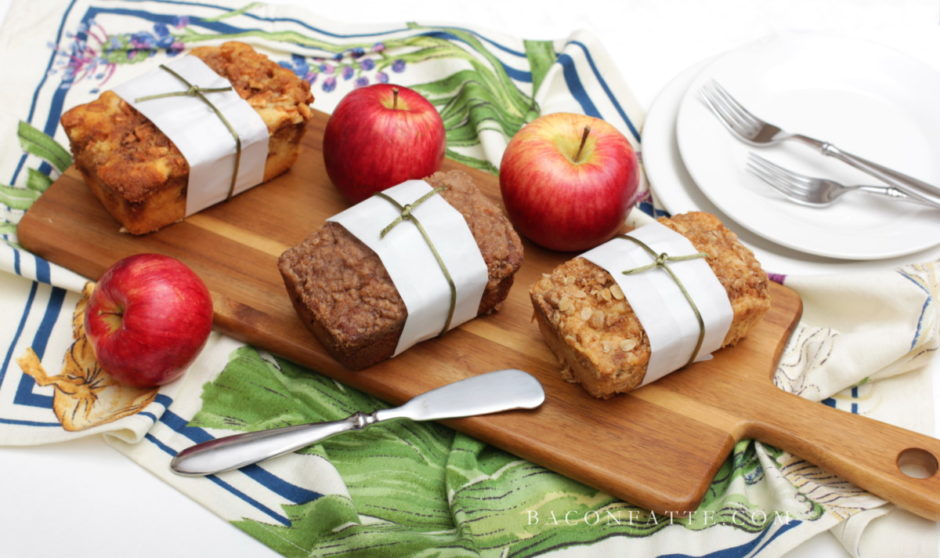 Mini Apple Bread Loaves & Applesauce Recipe – Edible Gift Ideas from BaconFatte.com