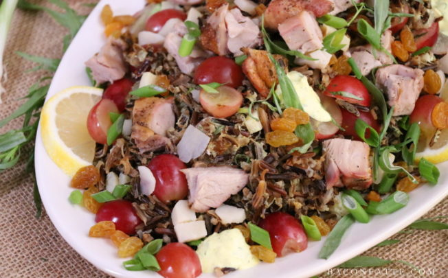 Turkey Wild Rice Salad with Tarragon and Grapes