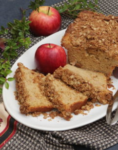 Apple Pie Bread with Oatmeal Crumb Topping