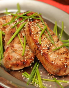Grilled Honey Soy Pork Chop recipe