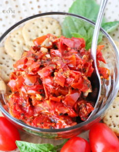 Easy Garlic Herb Tomato Jam