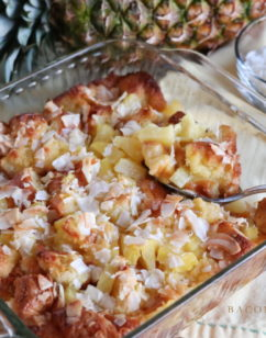 Pineapple Coconut Sweet Bread Pudding