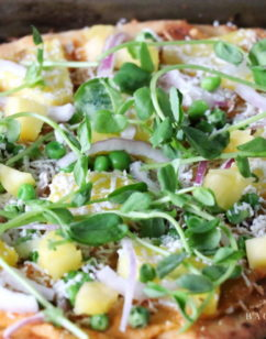 Spring Pea and Pineapple Pizza Fresca
