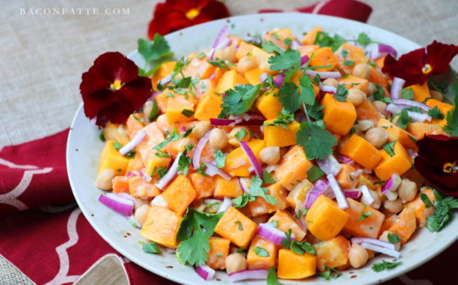 Butternut Squash Chickpea Salad with Lemon Tahini Dressing