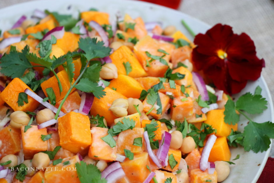 Butternut Squash and Chickpea Salad with Lemon Tahini Dressing recipe ...