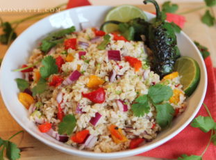 Carnival Rice Dish with Cilantro and Lime