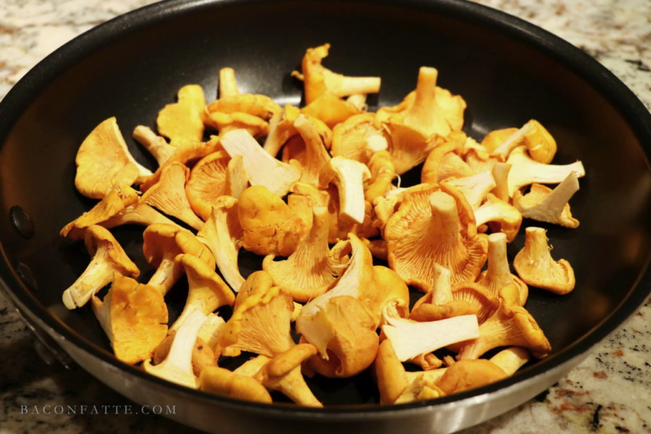 Chanterelle Mushrooms Recipe with Brandy Butter from BaconFatte.com