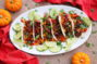 Blackened Steak Tacos with Pumpkin, Sweet Corn & Red Bean Salsa #PumpkinWeek