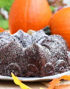 Ridiculously Good Fudgy Dark Chocolate Pumpkin Cake #PumpkinWeek