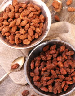 Slow Cooker Cinnamon Sugar Almonds – Two Ways!
