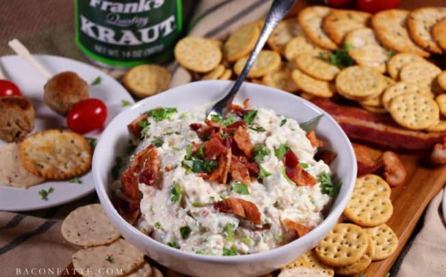 Creamy Sauerkraut Spread with Bacon, Garlic and Shallots