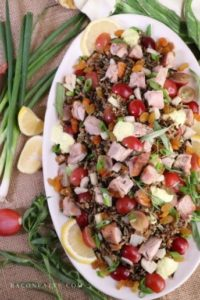 Turkey Wild Rice Salad with Tarragon and Grapes – BaconFatte.com