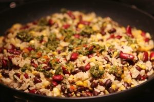 Rice and Beans with Corn and Chimichurri recipe – BaconFatte.com