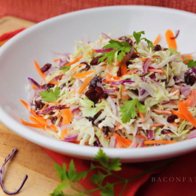 Colorful Cranberry Carrot & Red Onion Cole Slaw