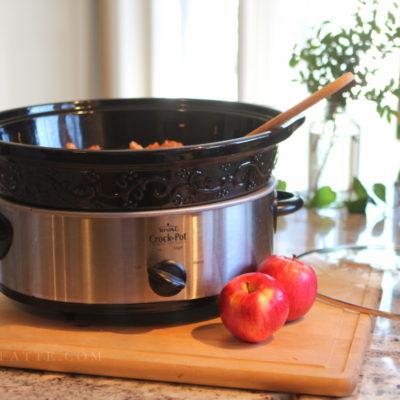 One Ingredient Slow Cooker Applesauce