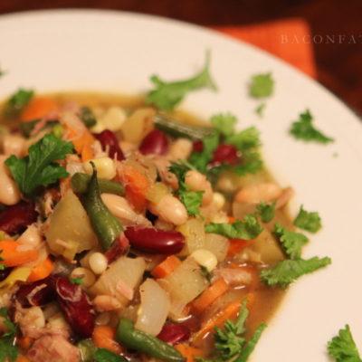 Rustic Pork, Bean and Vegetable Stew