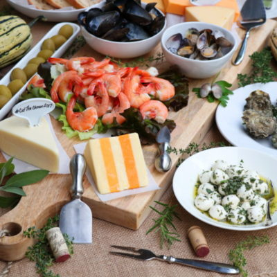 Cheese and Seafood Charcuterie – Cutting Board and John Boos Food Photography Contest
