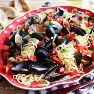 Linguine con le Vongole e Cozze – Linguine with Clams and Mussels