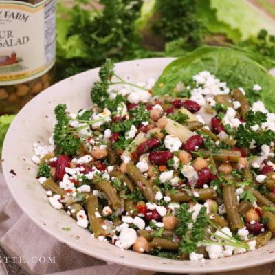 Four-Minute Four Bean Salad with Parsley & Feta