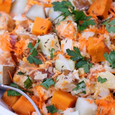 Bavarian Sweet Potato Salad with Kraut