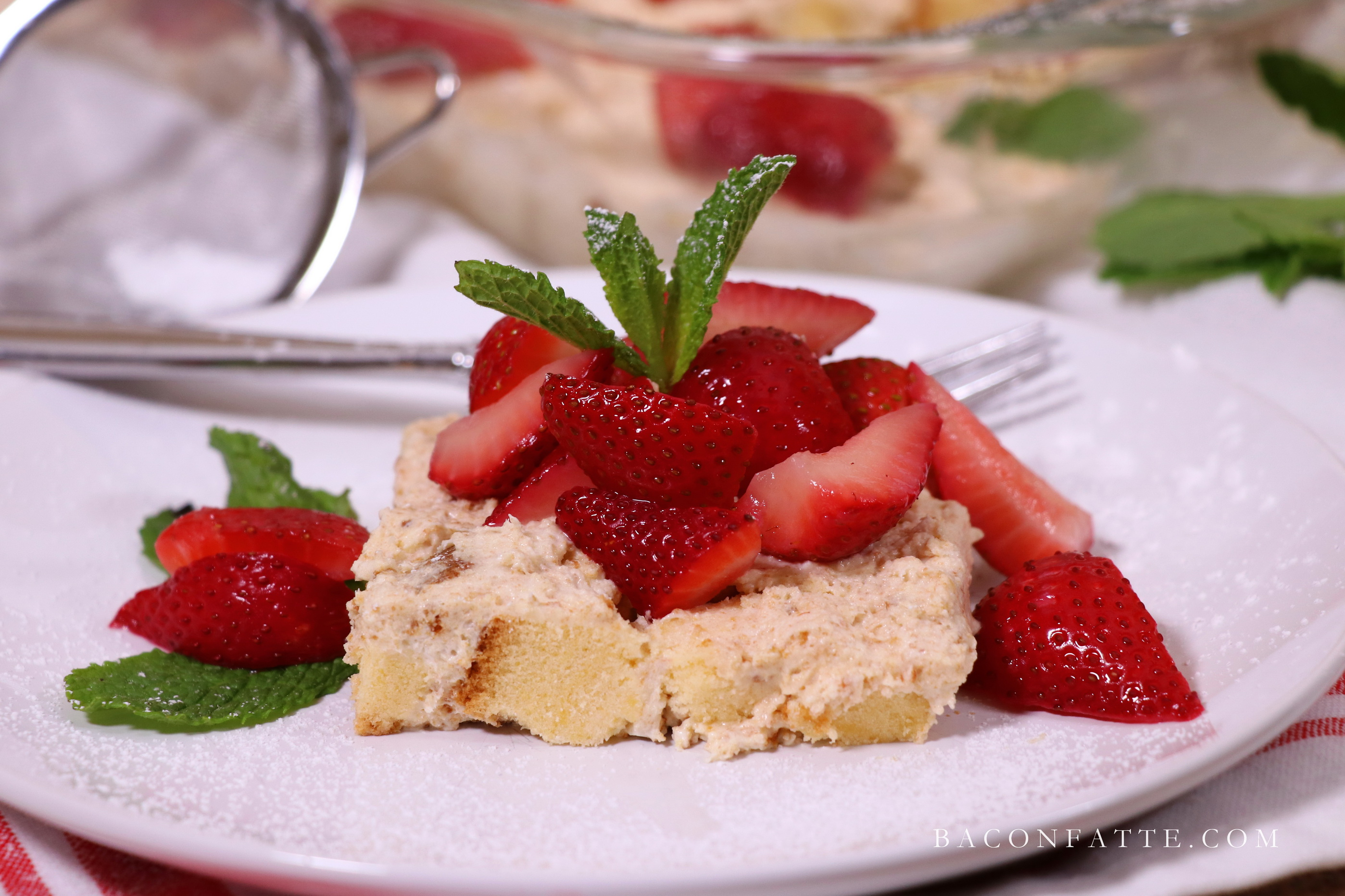 No Bake Strawberry Shortcake Dessert Baconfattecom