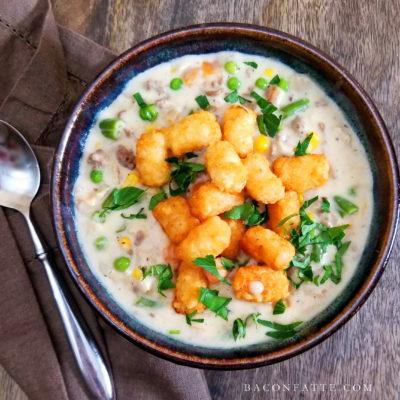 Tater Tot Dish Soup