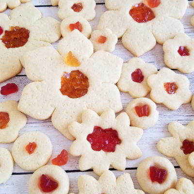 Chewy Fruit Filled Sugar Cookies